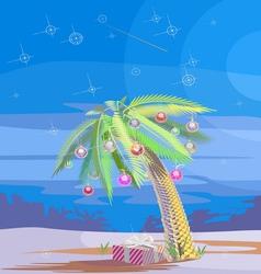 Christmas palm v vector
