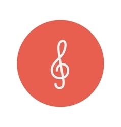 G-clef thin line icon vector image