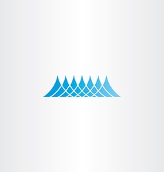 water wave sea blue icon design vector image