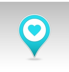 Heart pin map icon map pointer markers vector