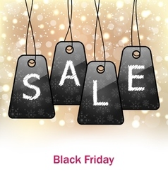 Abstract set labels for black friday sales vector