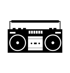 Boombox black simple icon vector