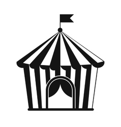 Vintage circus tent simple icon vector