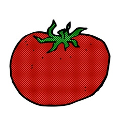 Comic cartoon tomato vector