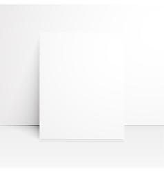 White paper blank with shadow vector