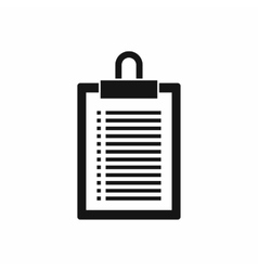 Document plan icon simple style vector