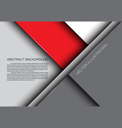abstract red gray overlap design modern background vector image