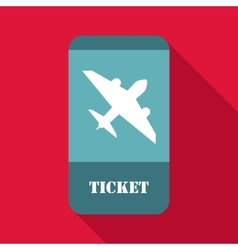 Airline ticket icon flat style vector image