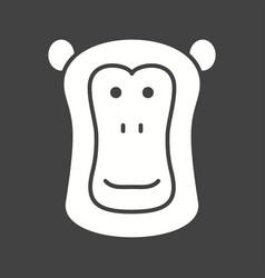 Baboon face vector