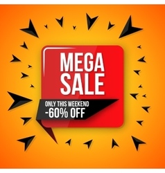 Big sale banner 60 off best offer vector
