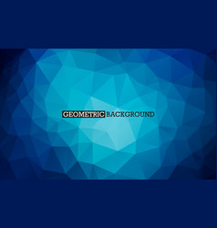 Blue background low poly style triangle mosaic vector
