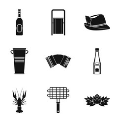 bottle of alcohol icons set simple style vector image
