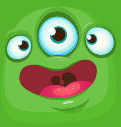 Cartoon funny alien face vector