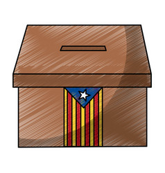 Catalunya flag independence vote icon image vector