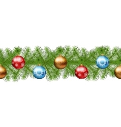 Christmas seamless garland vector