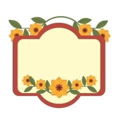 colorful frame and flowers graphic vector image