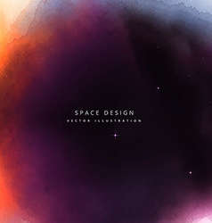 colorful space design background vector image vector image