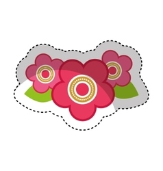 cute japanese flower icon vector image vector image