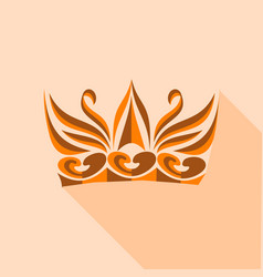 decorative crown icon flat style vector image