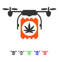 drugs drone delivery flat icon vector image vector image