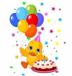 ducklings birthday vector image vector image