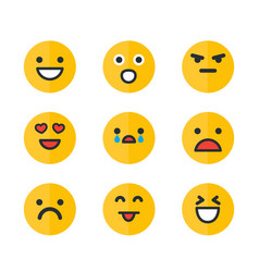emoticons set emoji smile icons vector image