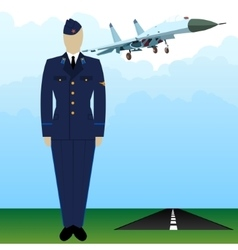 Military uniform force pilot-4 vector