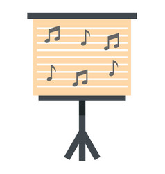 Music stand with piano notes icon isolated vector
