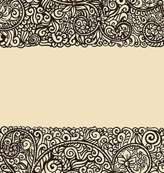 Ornated background vector image vector image