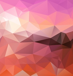 Pink sunrise polygon triangular pattern background vector