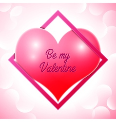 Realistic red heart with an inscription in centre vector image vector image