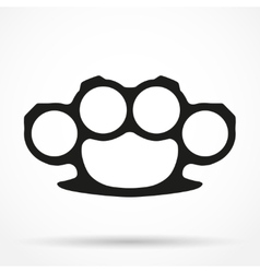 Silhouette simple symbol of Brassknuckles vector image vector image