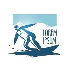snowboarding logo design template sport or vector image