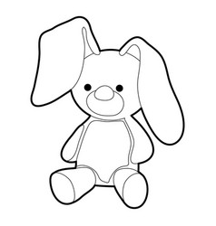 Soft toy icon outline style vector