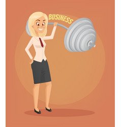 Successful businesswoman office worker character vector