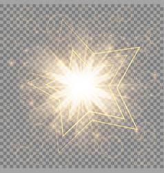 The golden christmas star vector