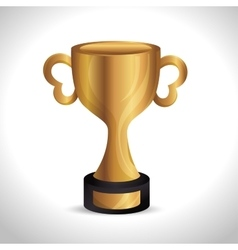 trophy gold award d icon vector image