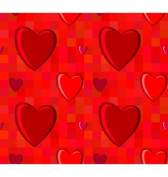 Valentines Day seamless pattern with hearts on vector image vector image