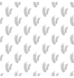 Spike of wheat seamless pattern vector