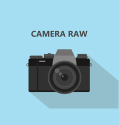 camera raw format file with camera vector image