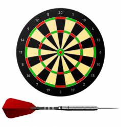Dartboard with dart vector