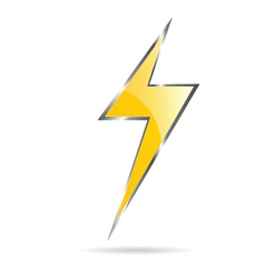 Flash sign yellow vector