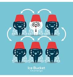 als ice bucket challenge concept vector image