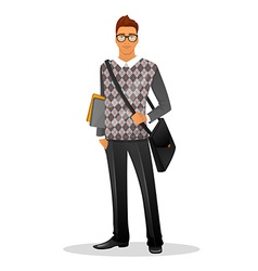 Fashion man character image vector