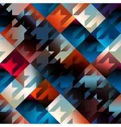 Houndstooth pattern on blue geometric background vector
