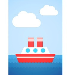 Red boat vector