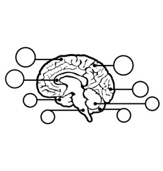 New human brain sign vector