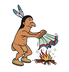 Indian smoke signals vector