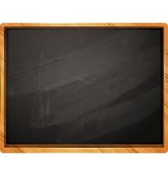 Classic school chalkboard vector image