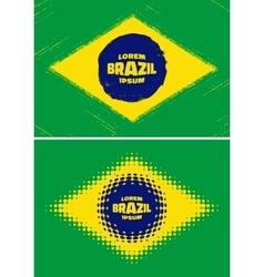 Set grunge halftone Brazil flags 2016 vector image